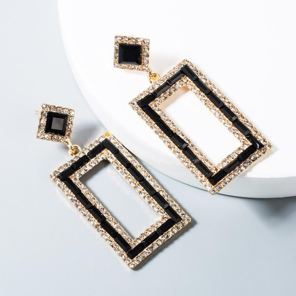 Fashion temperament alloy rhinestone earrings NHLN158379