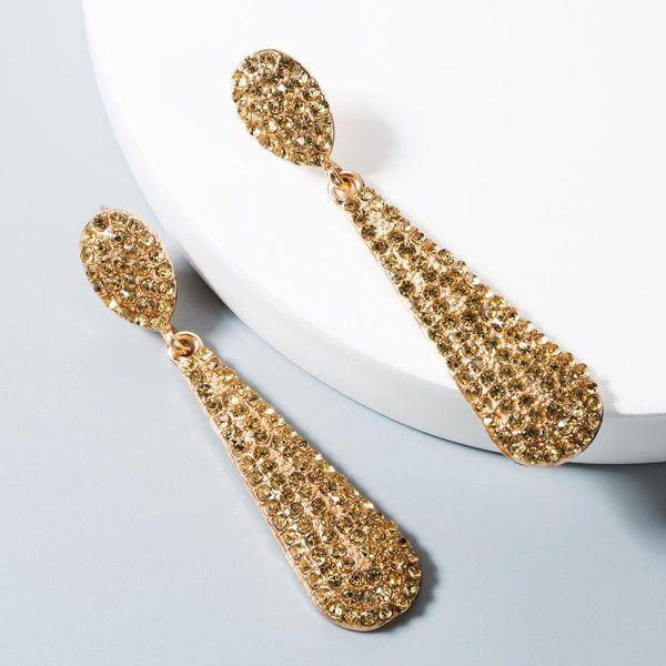 Fashion alloy inlaid rhinestone earrings NHLN158388