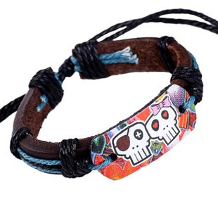European and American popular leather woven bracelet NHPK158398's discount tags