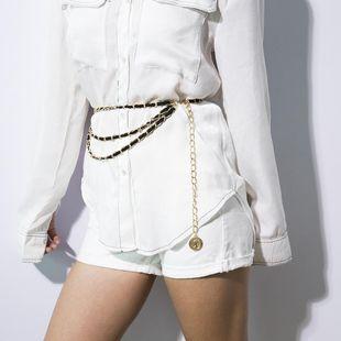 Fashion sexy slim chain tassel fleece waist chain bracelet NHXR158408's discount tags