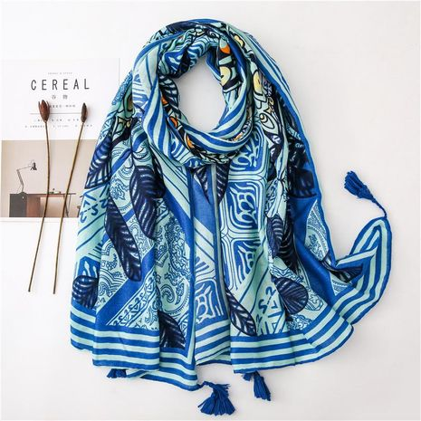 Vacation tassel ethnic style literary cotton and linen scarf NHGD158417's discount tags