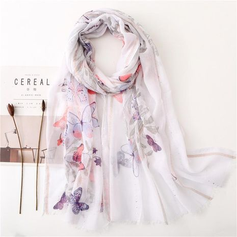 Fashion literary butterfly sequins with intellectual alloy scarf NHGD158423's discount tags
