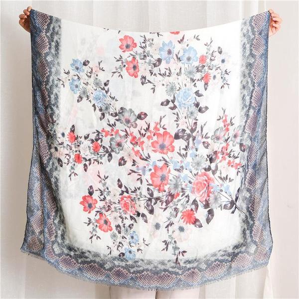Ethnic style shawl flower snakeskin cotton scarf NHGD158425