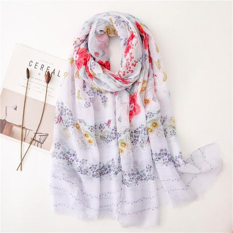 Fashion pink elegant temperament raw cotton and linen scarf NHGD158426's discount tags