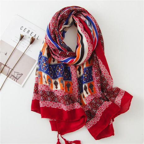 Fashion sunscreen national wind red scarf NHGD158432's discount tags