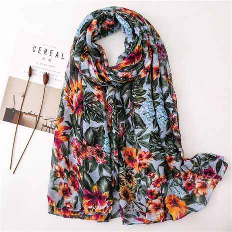 Fashion simple cotton linen scarf NHGD158434's discount tags