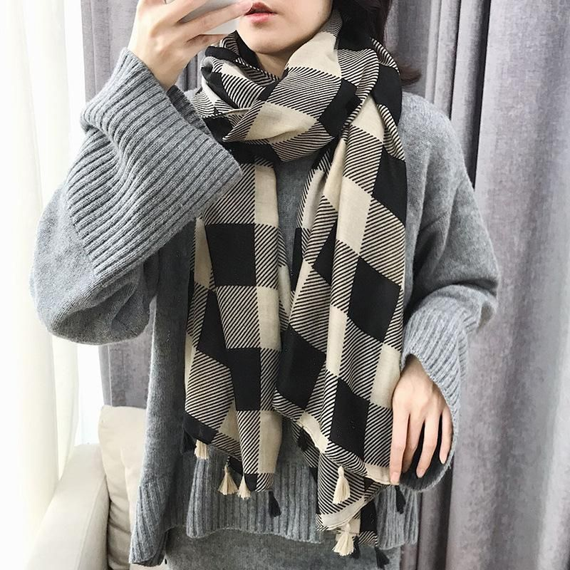 Classic Cappuccino Cotton Hand Scarf NHTZ158440