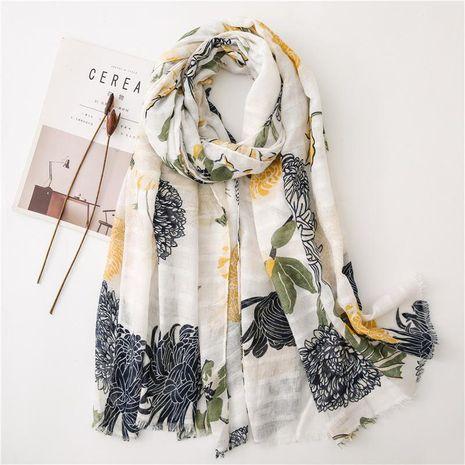 Fresh small floral shawl holiday flower beach towel NHGD158447's discount tags