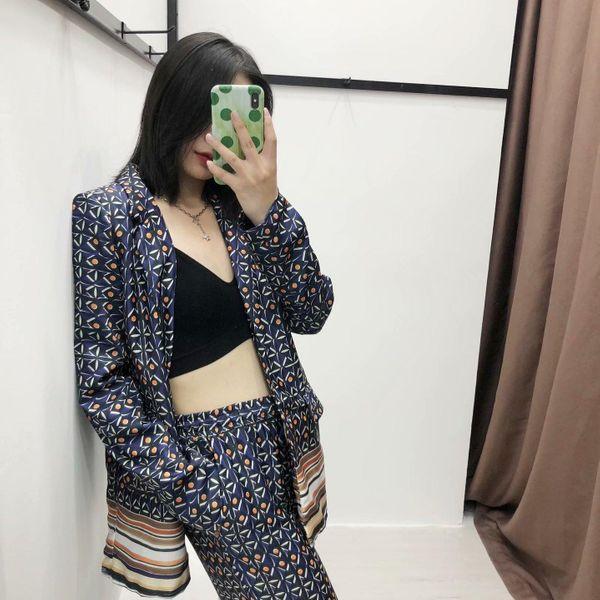 Fashion simple printed small suit jacket NHAM158457