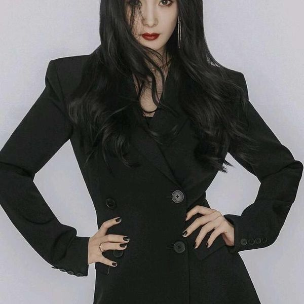 Fashion professional suit waist slim double-breasted jacket NHAM158458