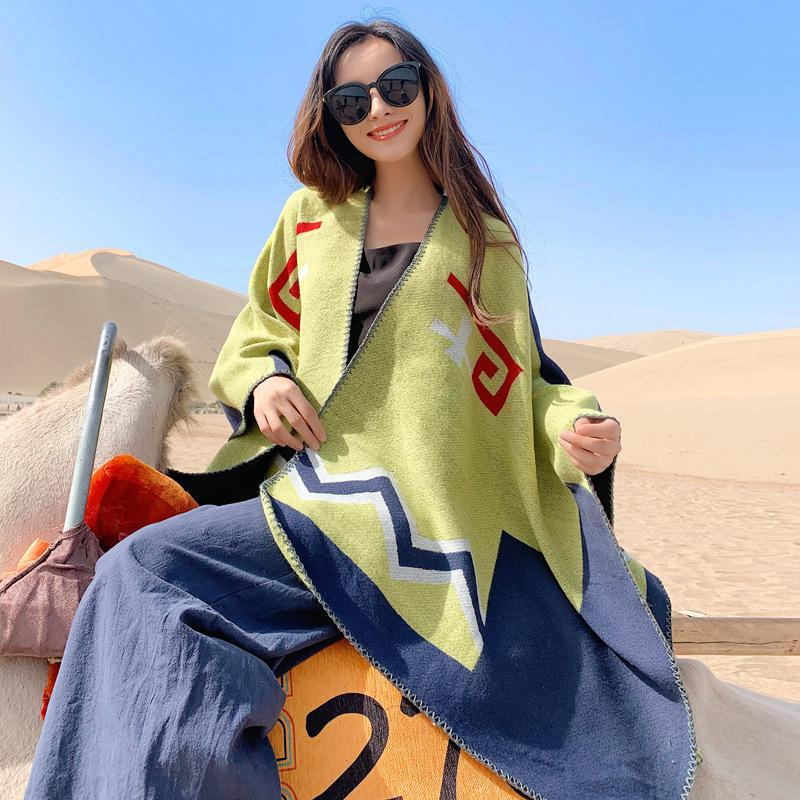 National Wind Dunhuang Qinghai Lake Travel Scarf NHTZ158476