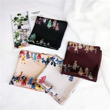 Cartoon prom small square scarf NHMN158479's discount tags