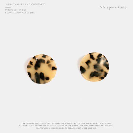 Retro Simple Twilight Round Wavy Leopard Earrings NHQS158508's discount tags