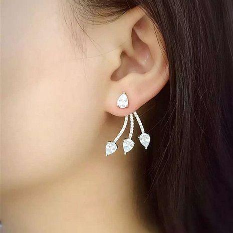 Fashion Water Drops Tassel S925 Silver Needle Zircon Earrings NHDO158519's discount tags