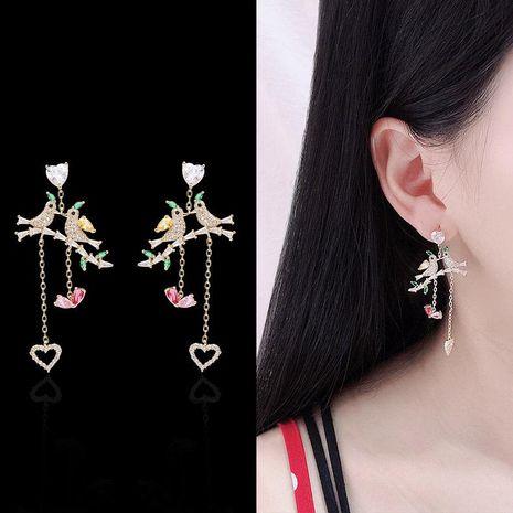 Fashion elegant bird love tassel earrings NHDO158525's discount tags