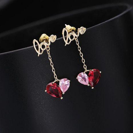 Womens Geometric Zircon Copper Earrings NHDO158541's discount tags