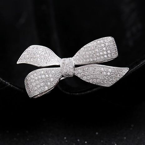 Womens Bow Copper Brooches NHDO158559's discount tags