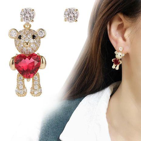 Fashion simple and asymmetrical love bear ear studs NHDO158561's discount tags