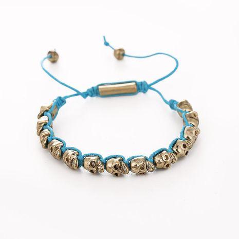 Vintage alloy skull woven bracelet NHHN158565's discount tags