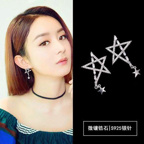 Fashion Cutout Zircon Pentagram Earrings NHDO158570's discount tags