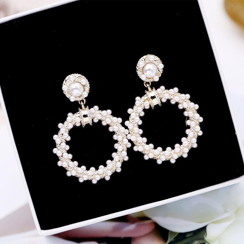 Womens Geometric Zircon Copper Earrings NHDO158572