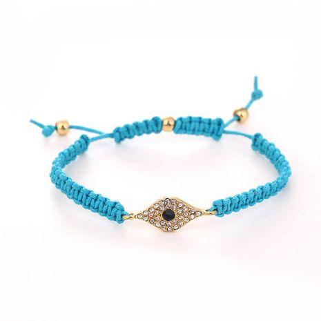 Alloy Synthetic Gem Devil's Eye Turkey Eye Braided Bracelet NHHN158581's discount tags