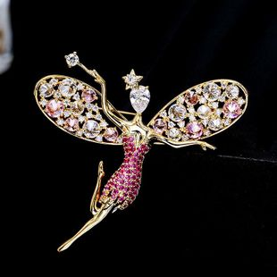 Womens cartoon character copper Brooches NHDO158593's discount tags
