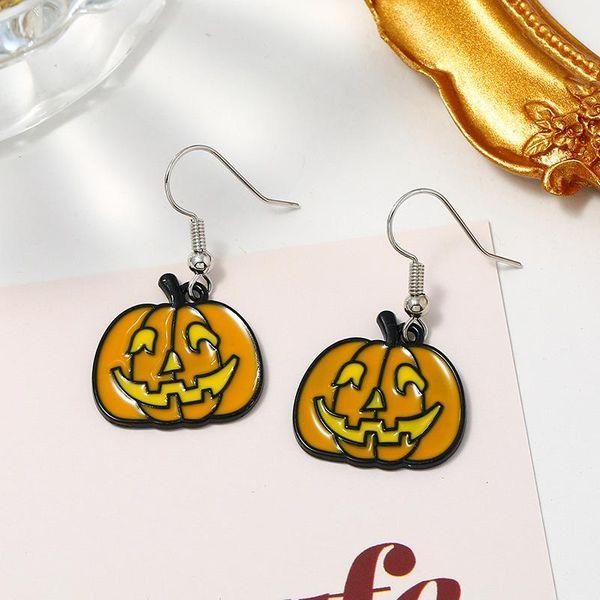 Halloween Spooky Cartoon Painted Earrings NHKQ170178