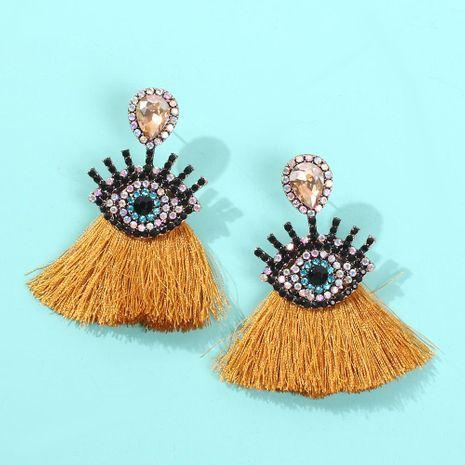Nouvelles boucles d'oreilles diamant oeil de diable rétro NHMD170274's discount tags