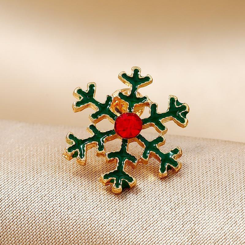 Christmas delicate flower snowflake crystal brooch NHKQ170147
