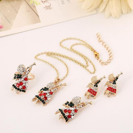 Christmas Drop Earrings Necklace Ring Brooch NHKQ170155's discount tags