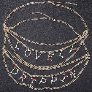 Fashion alloy chain letter waist chain NHJQ170028's discount tags