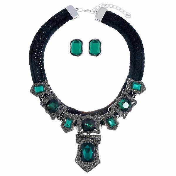 Conjunto de aretes de collar vintage hechos a mano de moda NHVA170423
