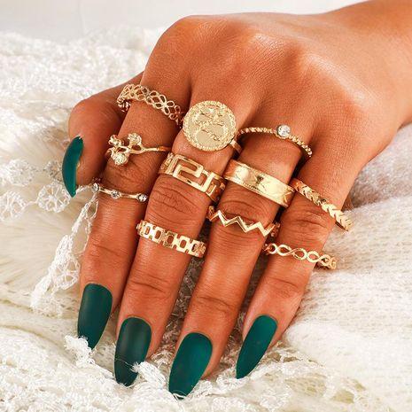 Bague Serpent Serpent Insigne Fleur Découpé Diamant Fashion NHGY170383's discount tags