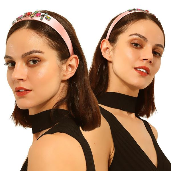 Fashion flannel diamond headband NHMD170277