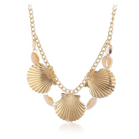 Fashion natural shell geometric shell necklace bohemian short necklace NHKQ170168's discount tags