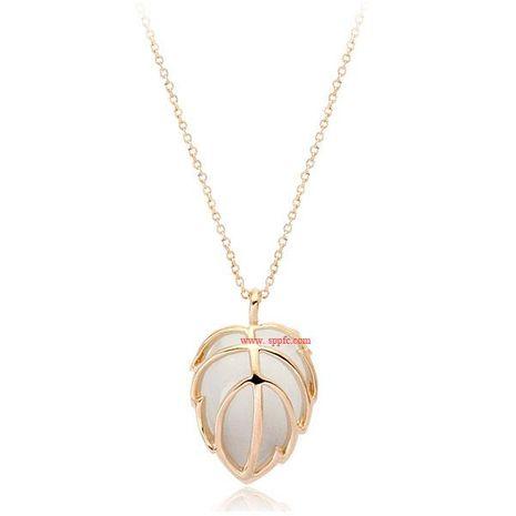 Collier d'opale fraîche et douce pendentif feuille d'érable NHLJ170128's discount tags