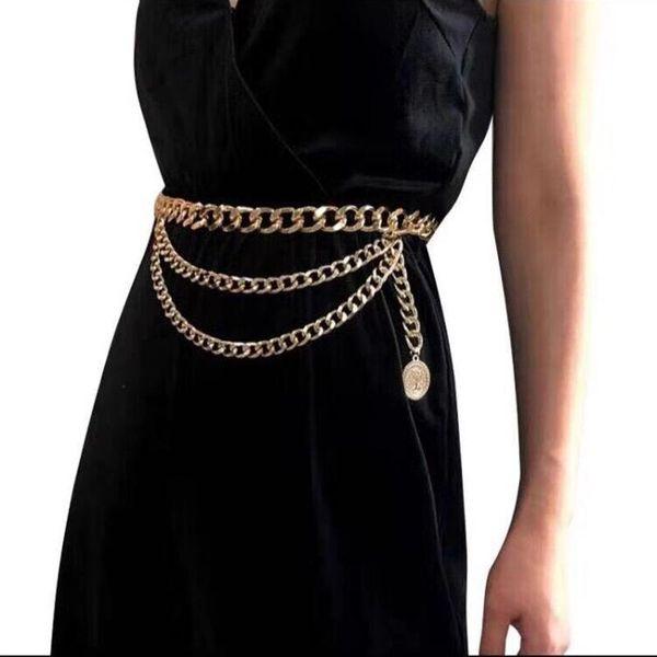 Vintage Sexy Tassel Pendant Body Chain Simple Multilayer Animal Waist Chain NHJJ170306
