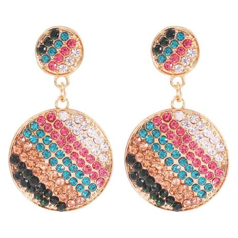 Fashion geometric full diamond love earrings NHMD170449's discount tags