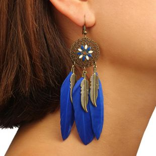 New retro dream catcher feather earrings NHGY170368's discount tags