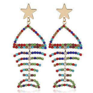 Vintage alloy diamond fashion star earrings NHVA170462's discount tags