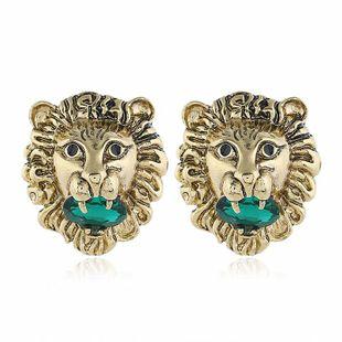 Vintage fashion lion head stud earrings NHVA170463's discount tags