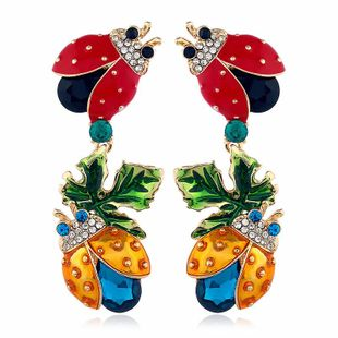 Fashion alloy studded insect earrings NHVA170472's discount tags