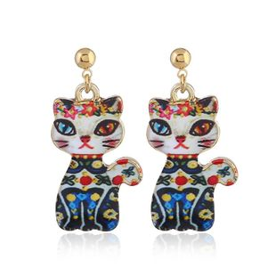 Fashion short cat earrings NHVA170489's discount tags