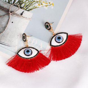 Fashion vintage diamond eye tassel earrings NHJJ170300's discount tags