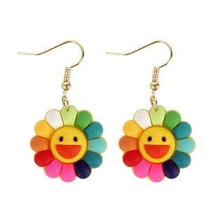 Fashion Colorful Sun Flower Earrings NHCT170403's discount tags