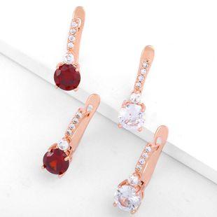 Fashion full diamond large zircon earrings NHAS170279's discount tags
