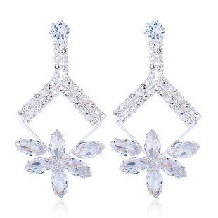 Fashion crystal diamond jewel long flower earrings NHVA170470's discount tags