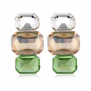 Fresh and fashionable candy color multi-color gemstone stud earrings NHVA170474's discount tags