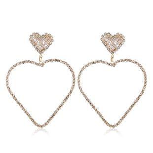 Fashion new retro alloy diamond love earrings NHVA170479's discount tags
